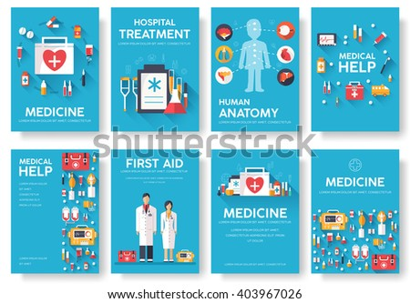 medicine information cards set