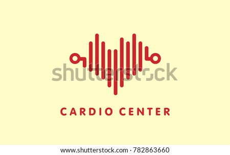 Medicine logo design ideas. Cardiology, blood donation symbol and blood test results icon.