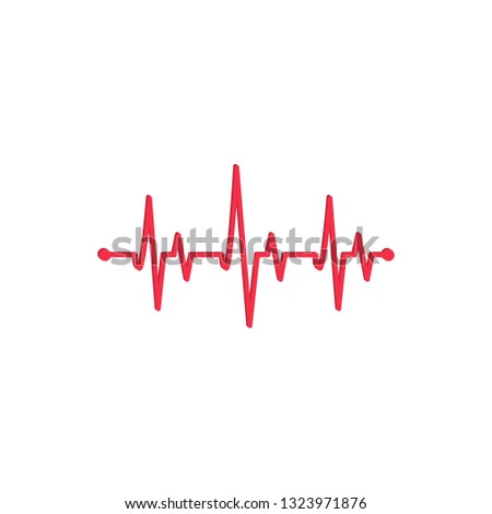 Medicine Modern flat Cardiogram Hearts Icons Vector - Vector