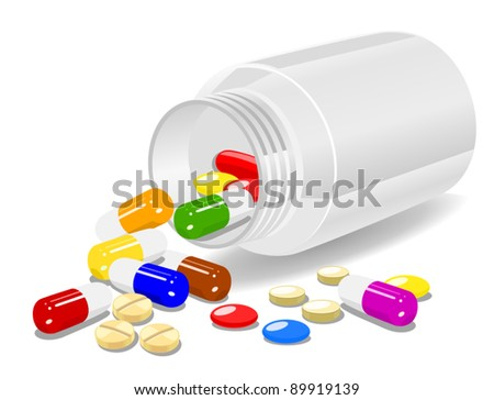 Medicine on white background