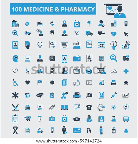 medicine pharmacy icons