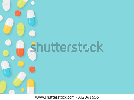 medicine pills border