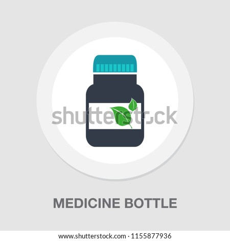 medicine Pills bottle icon. Silhouette symbol. medical Drugs isolated illustration