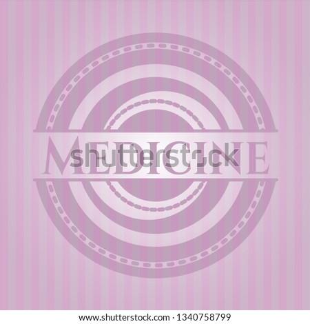 Medicine retro style pink emblem
