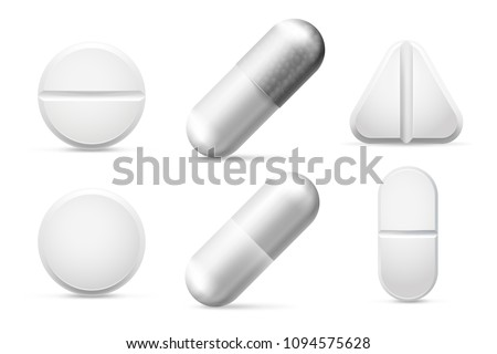 medicine round white cure pills