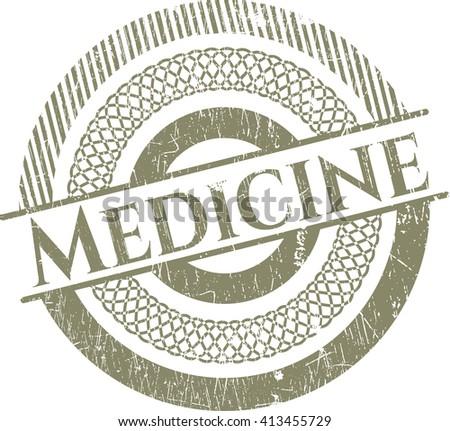 Medicine rubber grunge texture stamp