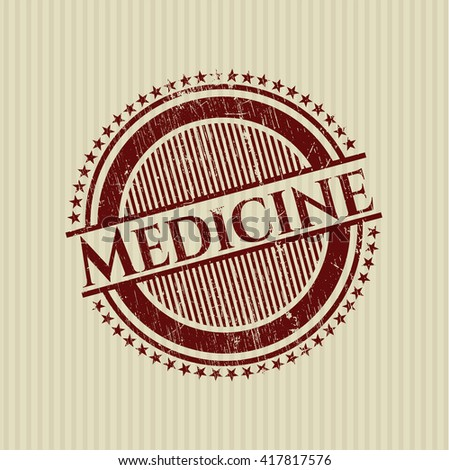 Medicine rubber seal with grunge texture