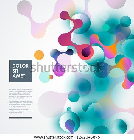 Medicine, science and technology concept background. Vector connection design.