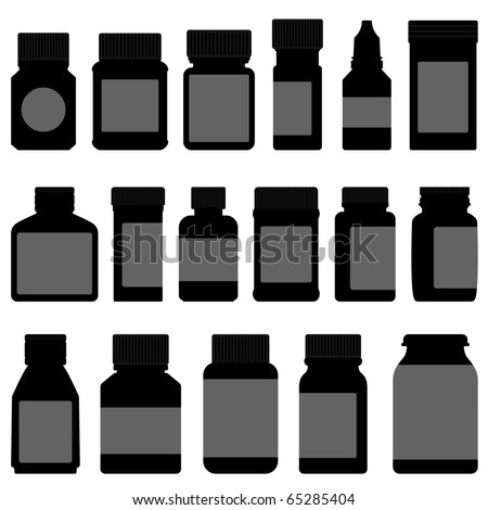 Medicine Storage Container Bottle - stock vector