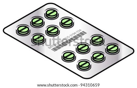 Round Green Pill