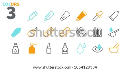 Medicine UI Pixel Perfect Well-crafted Vector Thin Line Icons 48x48 Ready for 24x24 Grid for Web Graphics and Apps. Simple Minimal Pictogram Part 2-3
