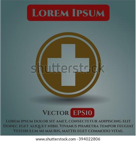 Medicine vector icon or symbol