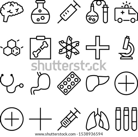 medicine vector icon set such as: clinical, skeletal, breathe, proton, package, medic, intelligence, magnify, silhouette, diagnostic, sickness, pill, pictogram, fluid, scan, speed, genius, container