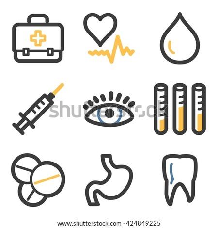 Medicine web icons