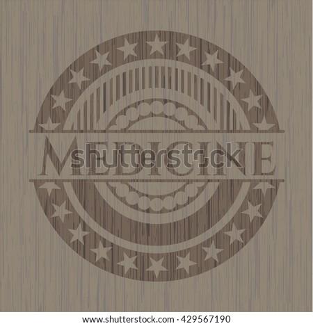 Medicine wood emblem. Retro