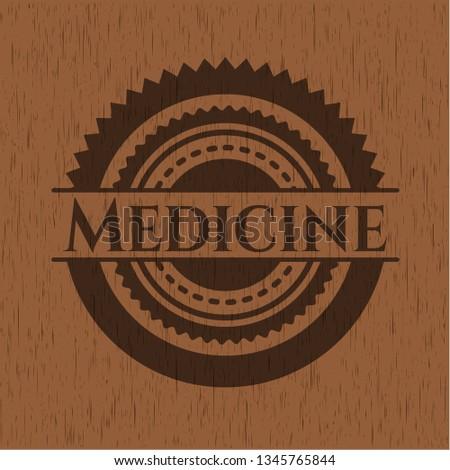 Medicine wood emblem. Vintage.