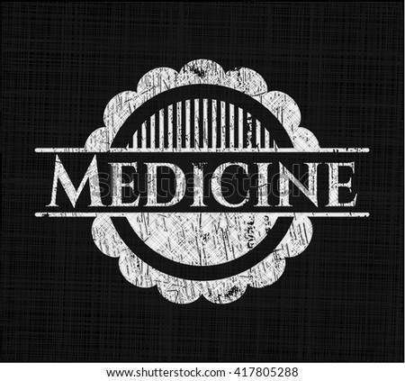 Medicine written with chalkboard texture