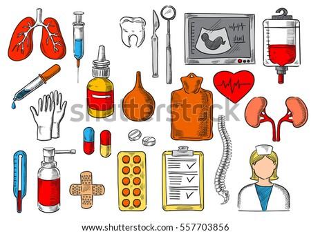 medicines and treatment tools