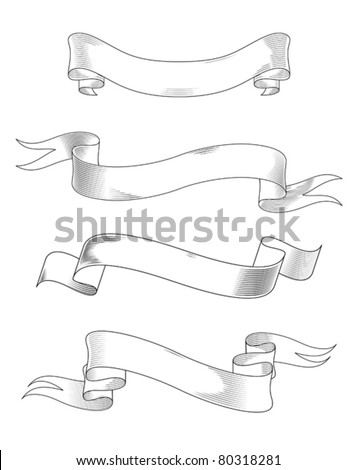 Medieval abstract ribbons set for heraldry design. Jpeg version also available in gallery