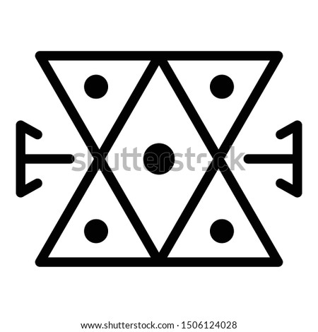 Medieval alchemy icon. Outline medieval alchemy vector icon for web design isolated on white background