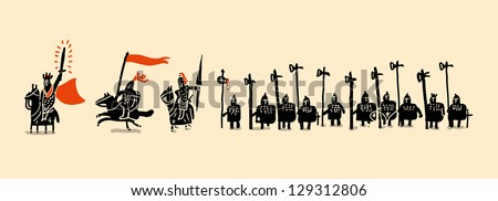 medieval army set