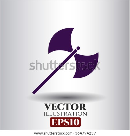 Medieval axe icon vector illustration