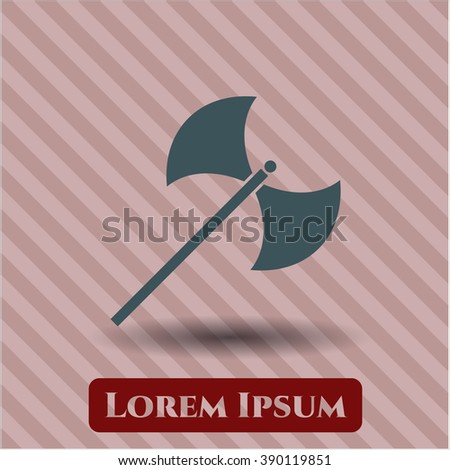 medieval axe icon vector