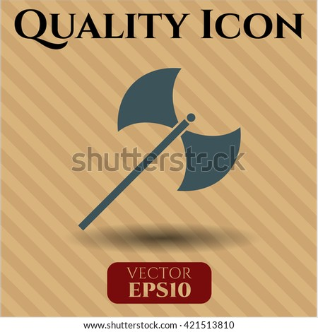 medieval axe icon vector symbol
