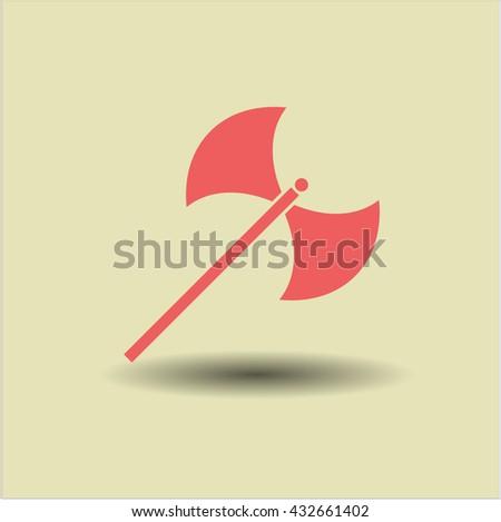 medieval axe icon vector symbol