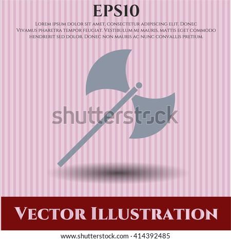 medieval axe vector symbol