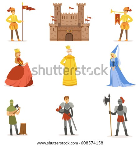 medieval cartoon characters and