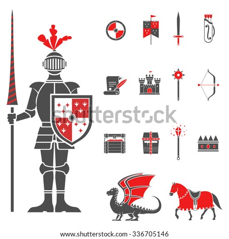 medieval castle knight with