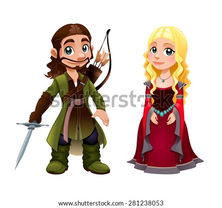 medieval couple  knight and