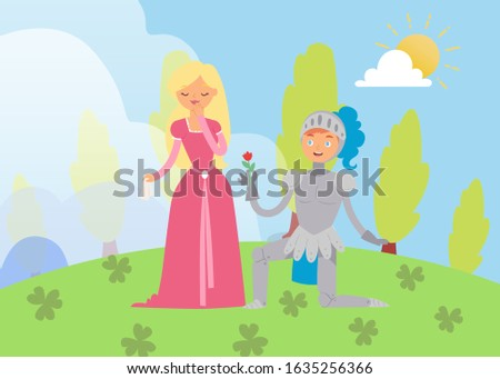 medieval fairy love tale knight