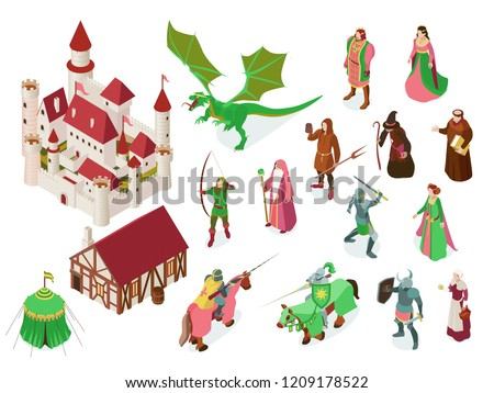 medieval fairy tale isometric