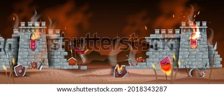 medieval game battle vector