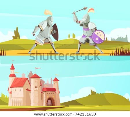 medieval horizontal cartoon