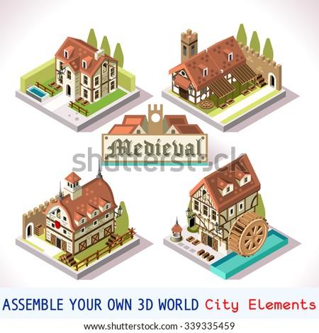 medieval house tile online