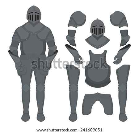 medieval knight armor set