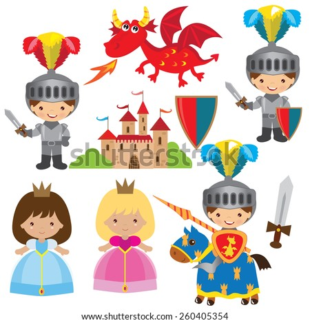 medieval knight princess and