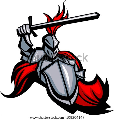 medieval knight with sword and