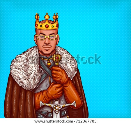 medieval northern king pop art