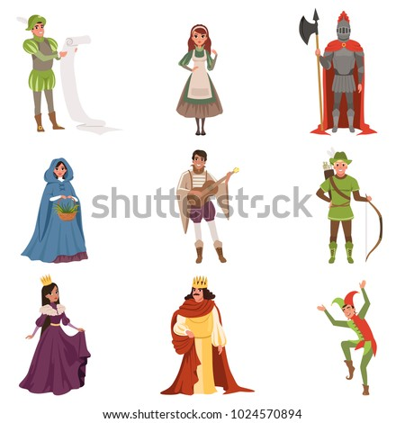 medieval people characters of