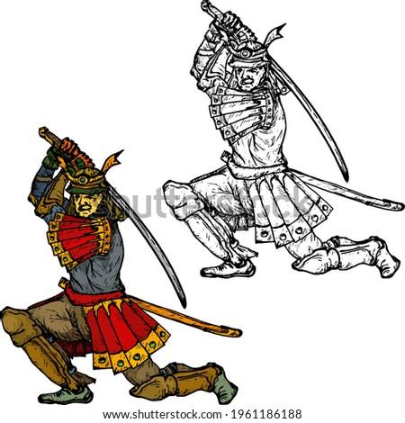 medieval samurai warrior