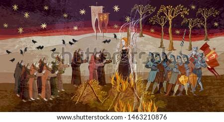 medieval scene inquisition