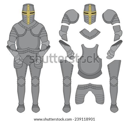 medieval templar knight armor