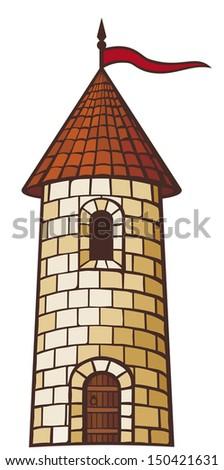 medieval tower  old castle