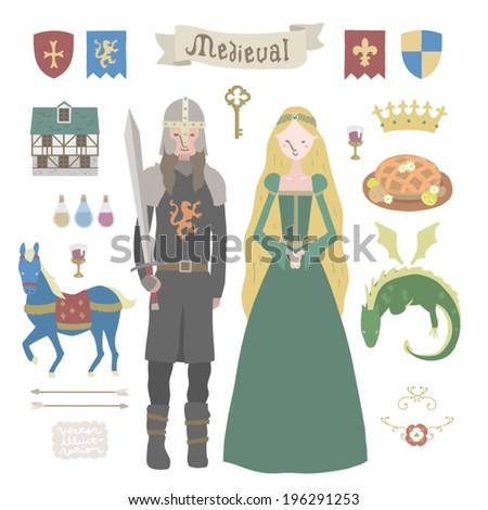 medieval vector illustrations