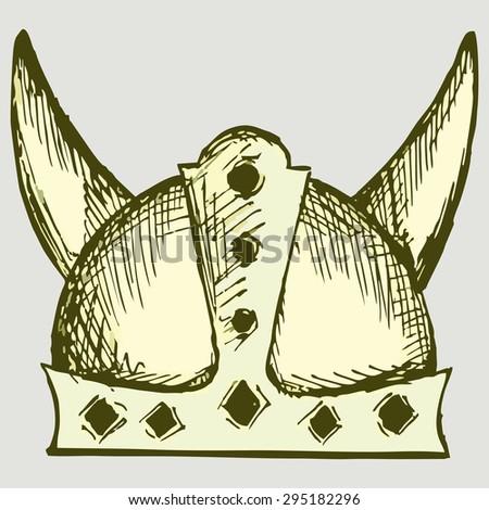 medieval warrior helmet vector