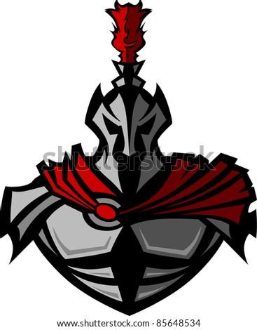 medieval warrior with helmet